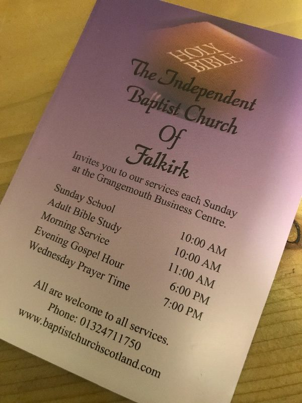 The Independent Baptist Church of Falkirk - Grangemouth, UK » KJV