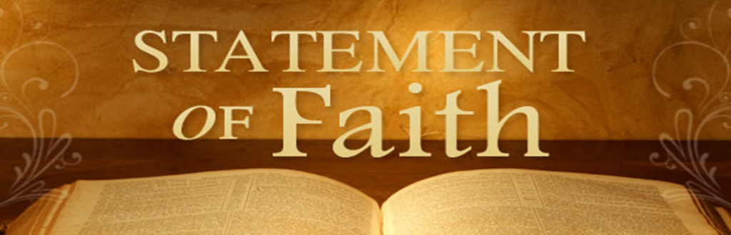 Your Statement of Faith is important